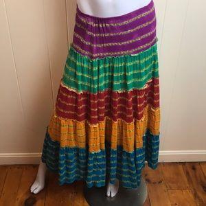 Ralph Lauren Tiered Hippie Boho Maxi Skirt